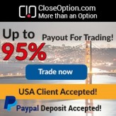 Close Option Broker – 20$ No Deposit Bonus and Binary Options US Trading Welcome!